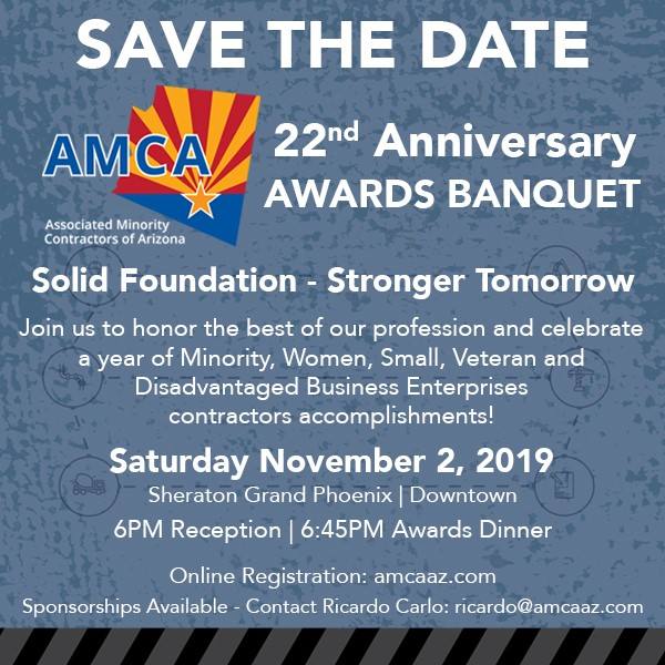 Save the Date for the AMCA 22nd Awards Banquet